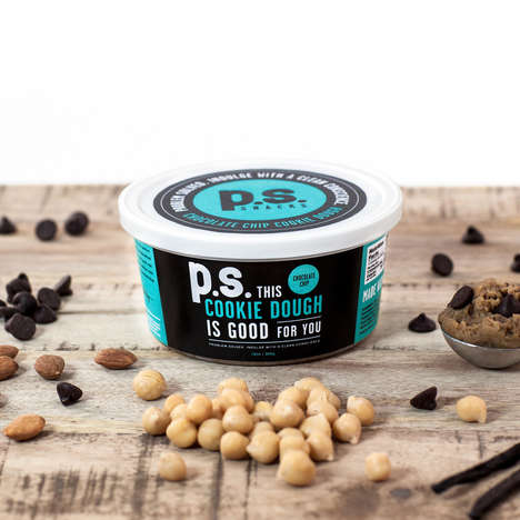 Chickpea-Based Cookie Dough - P.S. Snacks Co.'s Ready-to-Eat Cookie Dough Remixes a Classic Formula