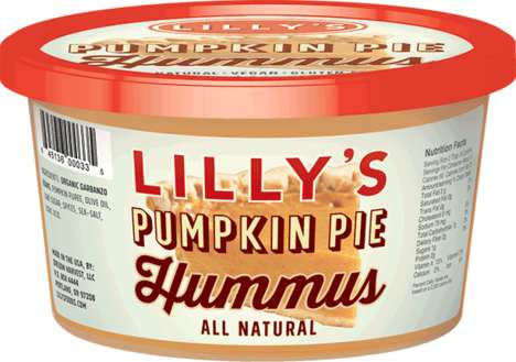 Pumpkin-Flavored Hummus Dips - Lilly's Hummus Launched a Sweet Hummus Inspired by a Classic Fall Pie