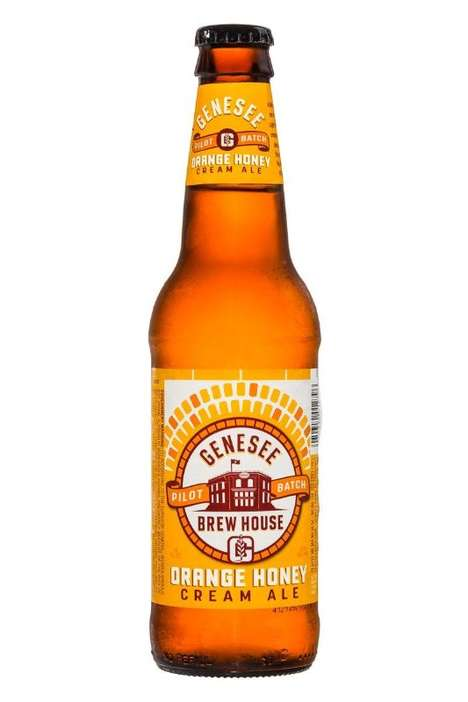 Honeyed Cream Ales - Genesee Brew House's Orange Honey Cream Ale is Crisp and Citrusy