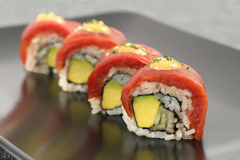 Tomato Sushi Rolls - Ocean Hugger Foods' Vegan Sushi Replicates Fish with a Vegetable