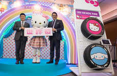 Cartoon Kitty Car Tires - The Hello Kitty NEXEN Tires are Accented with Cartoonish Features