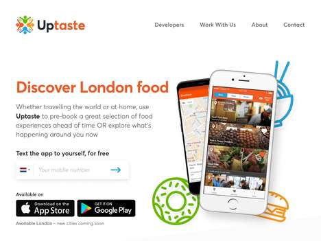 Locational Foodie Travel Apps - The 'Uptaste' App Opens Up Access to Different Foods in a New City