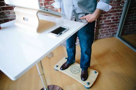 Standing Desk Balance Boards - The Pono Board Strengthens Your Core During Workouts or Work