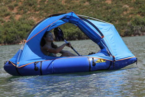 Protective Hybrid Camping Rafts - The 'Traft' Combines a Packraft with a Tent for Added Protection