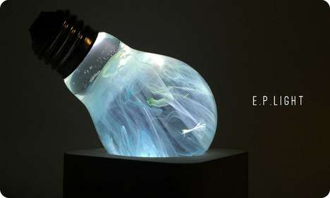 Ethereal Bulb-Like Lamps - The E.P. Light Offers a Mesmerizing Design