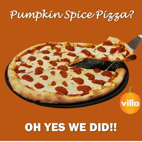 Pumpkin-Flavored Pizzas - Villa Italian Kitchen Created a Pumpkin Spice Pizza for the Fall Season