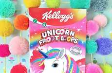 Unicorn-Inspired Cereals - Kellog's Unicorn Froot Loops are Now Available in the UK