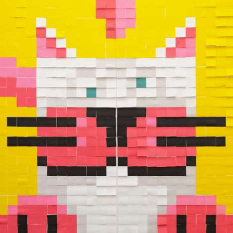Sticky Note Murals - MuralKit Uses Colored Post-it Notes to Guide Consumers Through Mural-Making