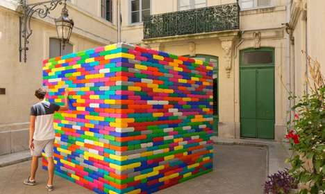 LEGO Hut Installations - 'La Madeleine' Was Featured at the Festival Des Architectures Vives