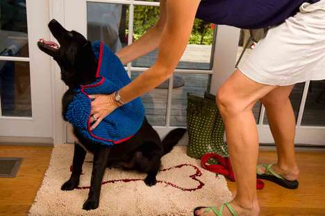 Absorbent Canine Doormat Towels - The Soggy Doggy Microfiber Dog Towels Absorb Five-Times More Water