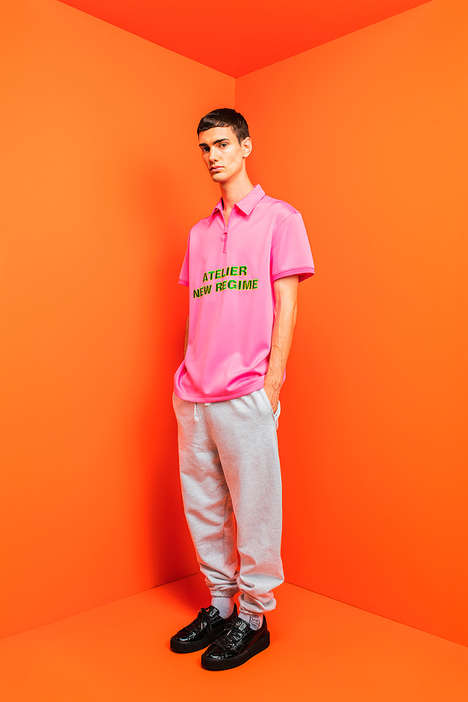 Cynical Montréal Streetwear - Atelier New Regime's Line is Full of Color and Statement Graphics