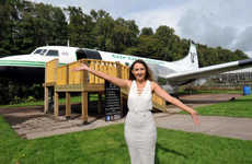Retired Airplane Salons - The Runway Studios Luxury Salon Offers Services in a Real Plane