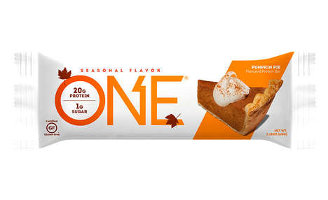 Fall Dessert Protein Bars - The ONE Pumpkin Pie Bar Contains Just One Gram of Sugar