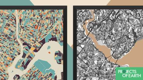Artful City Planning Maps - 'Doodle Maps' Display Vibrant Aerial Views of a City