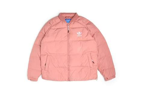 Millennial Pink Down Jackets - adidas' 'Superstar Down Jacket' Has Been Released in a Pastel Pink