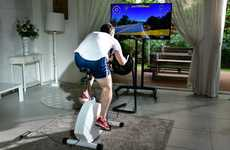 Virtual Cycling Races - VirchyBike Lite is a Stationary Bike That Simulates Long-Distance Races