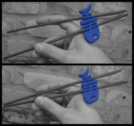 Multi-Purpose Chopstick Aids - The Choku Fish Can Be Used as a Headphone Organizer or Stress Toy