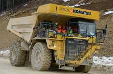 Gargantuan Electric Dump Trucks - This Komatsu Truck is the World's Biggest Electric Vehicle