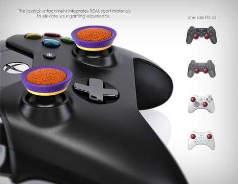 Sports Material Joystick Covers - The 'JoyTops' Incorporate Stylish Customization onto Joysticks