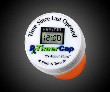 Dosage-Reminding Pill Bottle Caps - The 'RxTimerCap' Reminds You to Take Your Pills Using a Timer