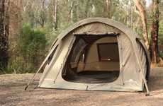 Pole-Free Inflatable Tents - The Air-Volution Inflatable Tents are Ready to Use in Mere Minutes