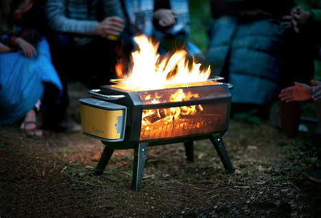 Smokeless Camper Fire Pits - The BioLite 'FirePit' Eliminates Smoke While Also Charging Your Phone