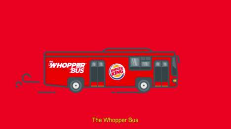 Burger Chain Buses - Burger King Launched a Fast Food Bus to Take People to Its Restaurant