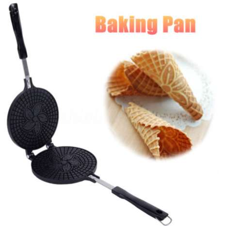 Floral Waffle Cone Bakers - This Kitchen Appliance Allows One to Efficiently Make Ice Cream Cones