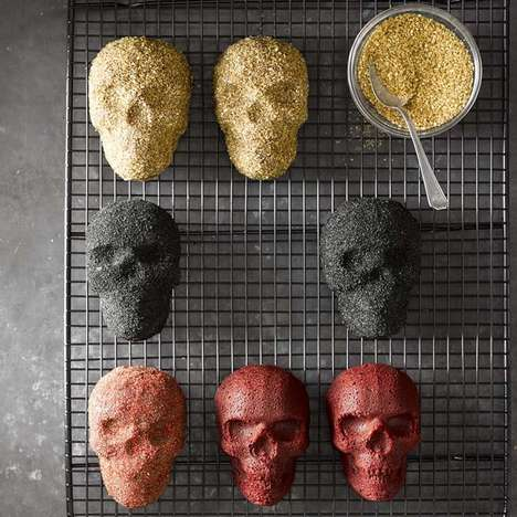 Undead Mini Cake Pans - Williams Sonoma's Skull Pan is Ideal for Baking Halloween Treats in
