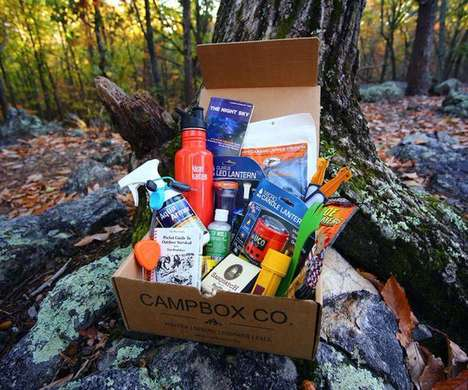Camper Subscription Services - Campbox Co. Delivers Gear for Camping Right to Your Door