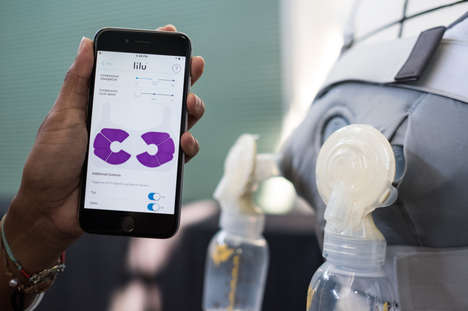 Compression Nursing Bras - 'Lilu' Helps New Mothers Pump Milk at Work Efficiently