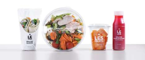 Transparent To-Go Packaging - Monoprix's 'Food To Go' Range Appeals to Busy Urbanites