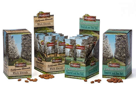 Grab-and-Go Almond Branding - The Mariani Nut Company Snack Almond Packs are Satisfying