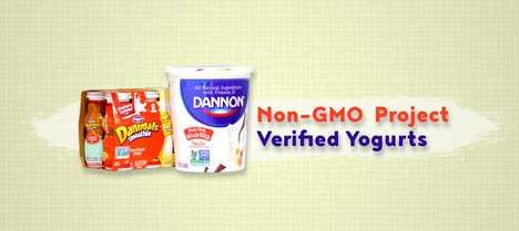 Transparent Dairy Product Releases - Dannon Has Introduced Non-GMO Project Verified Yogurts