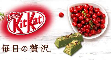 Everyday Luxury Chocolate Bars - The Kit Kat Matcha Double Berry and Almond is Tasty and Inexpensive