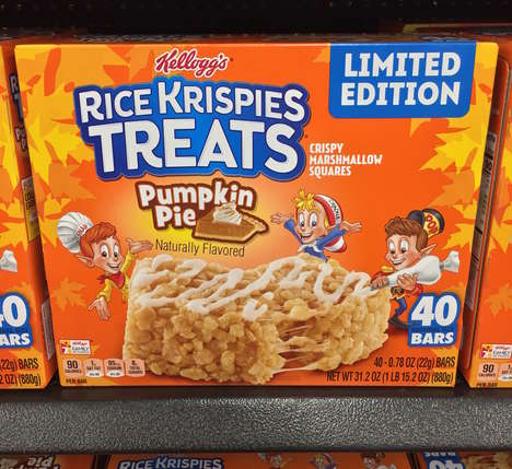 Seasonal Cereal Dessert Snacks - The Pumpkin Pie Rice Krispies Treats Turn Dessert into a Snack