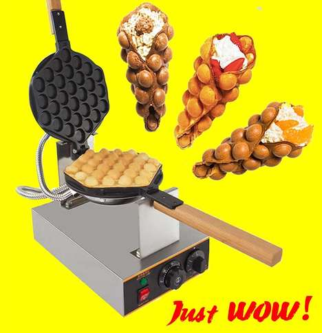 Rotating Nonstick Grills - The 'Puffle Waffle Maker' Can Be Used to Create Curvaceous Food