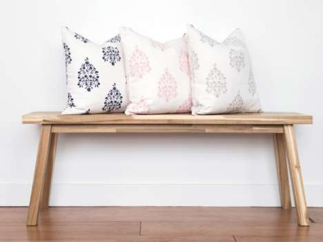 Playfully Modern Textiles - Pepper B Offers Home Goods That are Both Timeless and Unique