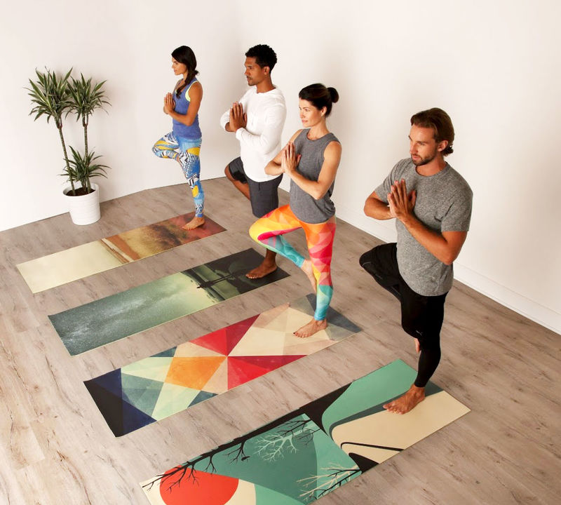 Art-Embellished Yoga Mats
