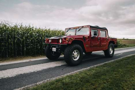 Barnstorming Electric SUVs - The Hummer H1 Offers Beastly & Eco-Friendly Performance In One Package