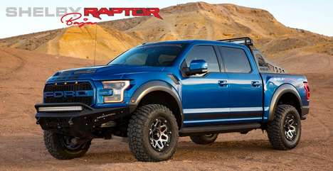 Aggressive Off-Road Trucks - The Shelby Raptor Combines Ruggedness and All-American Automotive Style