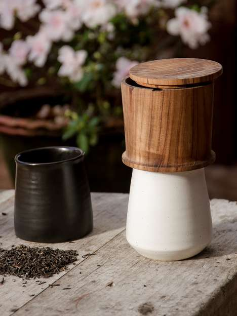 Tradition-Honoring Tea Brewers - The 'Trickle' Tea Dripper is Crafted from Natural Materials