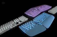 Skeletal Washable Keyboards
