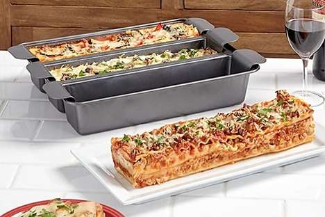 Triple Variety Lasagna Pans - The Chef Tony TriSagna Pan Creates Three Types of the Classic Dish
