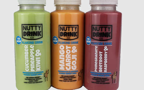 Fruit-Infused Almond Milks - The Delamere Dairy Nutty Drink Range is Cold-Pressed
