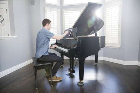 Assistive Smart Piano Systems - The One Piano Strip Offers Portable Piano Learning Help