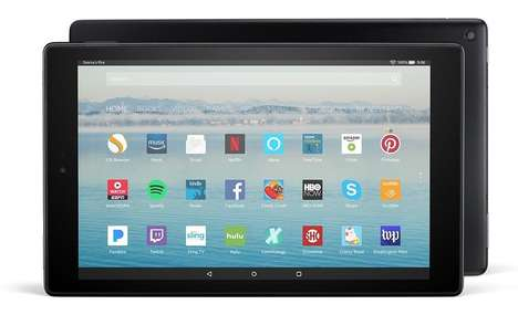 Hands-Free Tablets - The Amazon Fire HD 10 Tablet Can Interact With Smart Home Devices