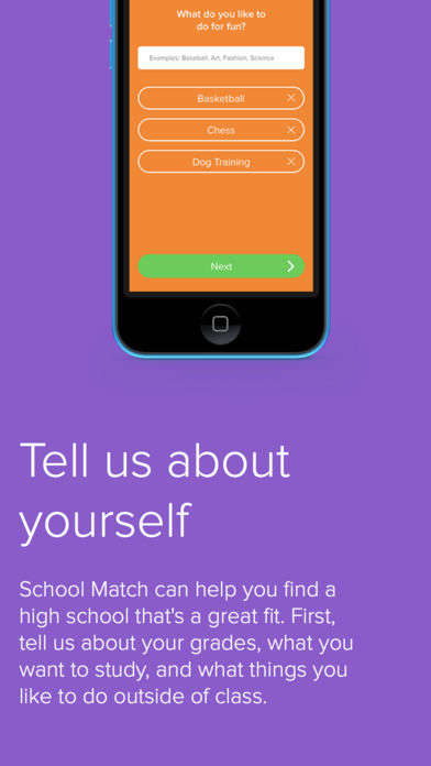 Streamlined School Selection Apps