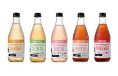 Sparkling Tea Beverages - The Crisp, Dry and Unsweetened SOUND Sparkling Tea Elevates Tea Rituals