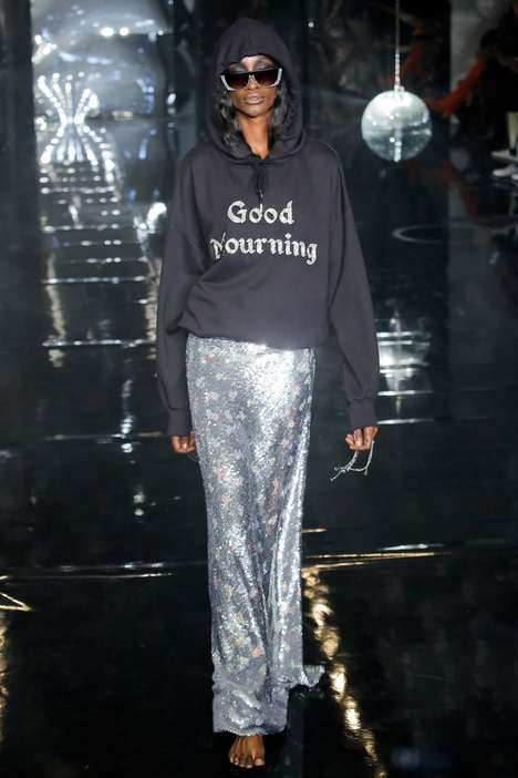 Glittering Gothic Fashion - The Latest Ashish Spring Collection Boasts Dark, Shimmering Details